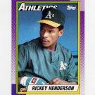 1990 Topps Baseball #450 Rickey Henderson - Oakland A's