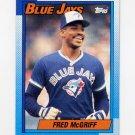 1990 Topps Baseball #295 Fred McGriff - Toronto Blue Jays