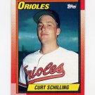 1990 Topps Baseball #097 Curt Schilling - Baltimore Orioles