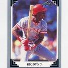 1991 Leaf Baseball #037 Eric Davis - Cincinnati Reds