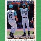 1995 Topps Baseball #440 Gary Sheffield - Florida Marlins