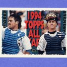1995 Topps Baseball #391 Mike Piazza AS / Mike Stanley AS