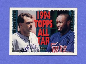 1995 Topps Baseball #390 Dante Bichette AS / Kirby Puckett AS