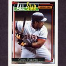 1992 Topps Gold Baseball #397 Cecil Fielder AS - Detroit Tigers