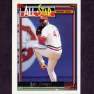 1992 Topps Gold Baseball #396 Lee Smith AS - St. Louis Cardinals