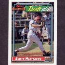 1992 Topps Baseball #734 Scott Hatteberg RC - Boston Red Sox