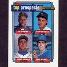 1992 Topps Baseball #676 Pat Mahomes RC / Sam Militello / Roger Salkeld / Turk Wendell