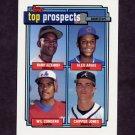 1992 Topps Baseball #551 Manny Alexander / Alex Arias / Wil Cordero / Chipper Jones