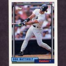 1992 Topps Baseball #300 Don Mattingly - New York Yankees
