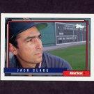 1992 Topps Baseball #207 Jack Clark - Boston Red Sox