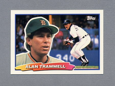1988 Topps BIG Baseball #008 Alan Trammell - Detroit Tigers