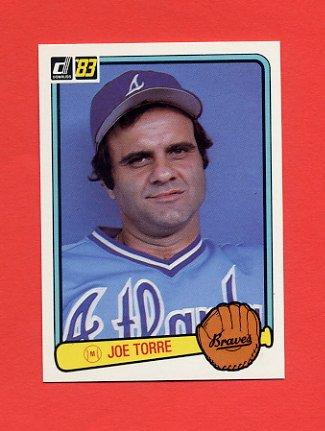 1983 Donruss Baseball #628 Joe Torre MG - Atlanta Braves