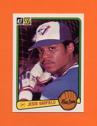1983 Donruss Baseball #595 Jesse Barfield - Toronto Blue Jays