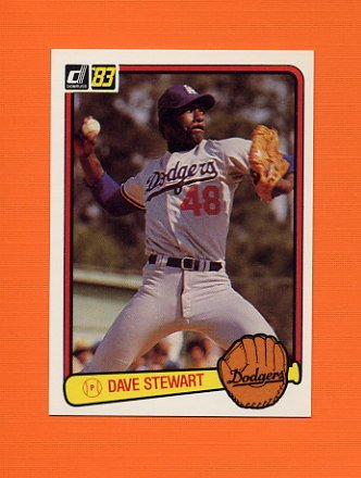 1983 Donruss Baseball #588 Dave Stewart - Oakland A's