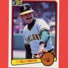 1983 Donruss Baseball #575 Billy Martin MG - Oakland A's