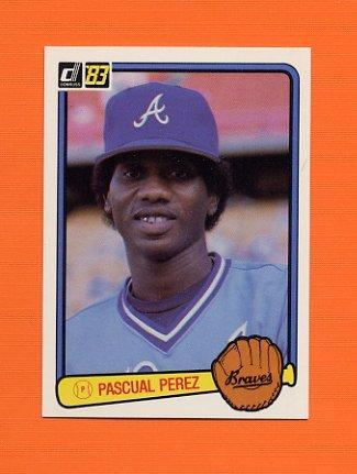 1983 Donruss Baseball #557B Pascual Perez - Atlanta Braves