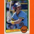 1983 Donruss Baseball #510 Gorman Thomas - Milwaukee Brewers