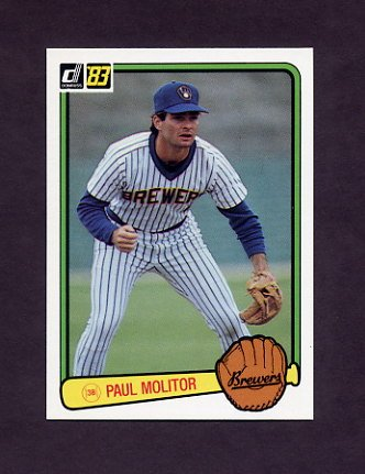 1983 Donruss Baseball #484 Paul Molitor - Milwaukee Brewers
