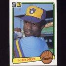 1983 Donruss Baseball #384 Ben Oglivie - Milwaukee Brewers