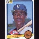 1983 Donruss Baseball #333 Lou Whitaker - Detroit Tigers