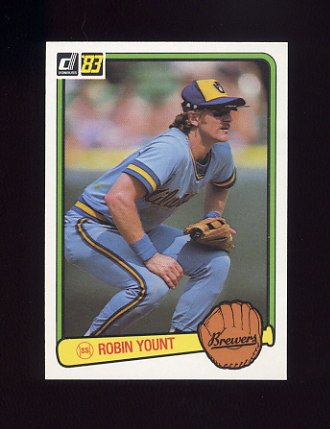 1983 Donruss Baseball #258 Robin Yount - Milwaukee Brewers