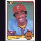 1983 Donruss Baseball #190 Willie McGee RC - St. Louis Cardinals