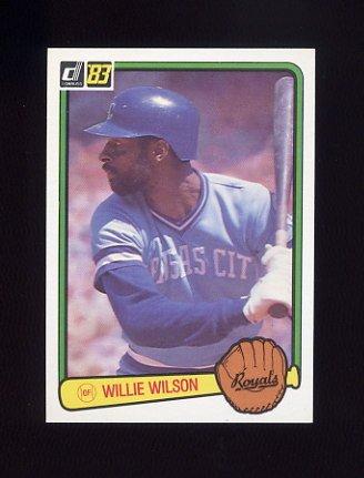 1983 Donruss Baseball #112 Willie Wilson - Kansas City Royals