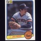 1983 Donruss Baseball #107 Jack Morris - Detroit Tigers