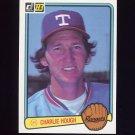 1983 Donruss Baseball #069 Charlie Hough - Texas Rangers