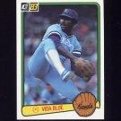 1983 Donruss Baseball #034 Vida Blue - Kansas City Royals