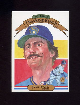 1983 Donruss Baseball #002 Rollie Fingers DK - Milwaukee Brewers