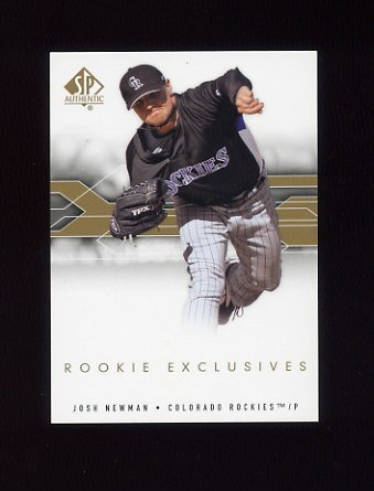 2008 SP Authentic Baseball Rookie Exclusives #NE Josh Newman - Colorado Rockies