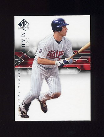 2008 SP Authentic Baseball #068 Joe Mauer - Minnesota Twins