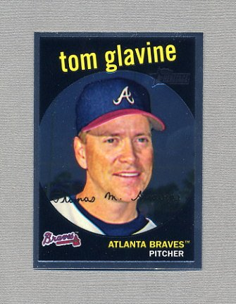 2008 Topps Heritage Baseball Chrome #C117 Tom Glavine - Atlanta Braves /1959