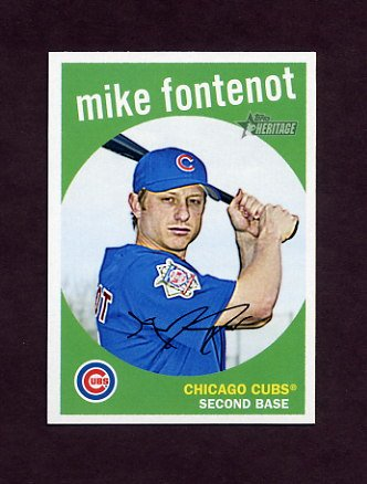 2008 Topps Heritage Baseball #694 Mike Fontenot SP - Chicago Cubs