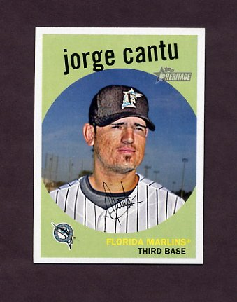 2008 Topps Heritage Baseball #683 Jorge Cantu - Florida Marlins