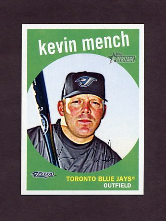 2008 Topps Heritage Baseball #668 Kevin Mench - Toronto Blue Jays
