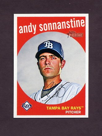2008 Topps Heritage Baseball #644 Andy Sonnanstine - Tampa Bay Rays