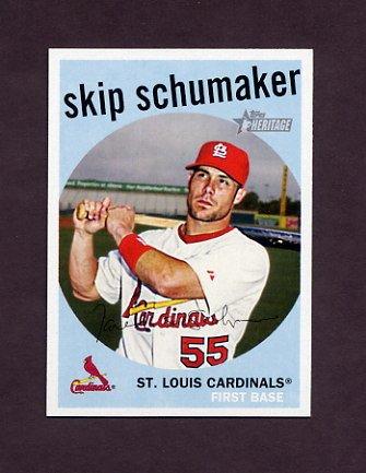 2008 Topps Heritage Baseball #507 Skip Schumaker - St. Louis Cardinals