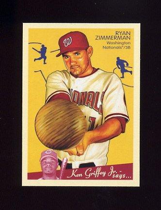 2008 Upper Deck Goudey Baseball #195 Ryan Zimmerman - Washington Nationals