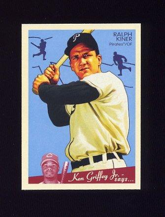 2008 Upper Deck Goudey Baseball #150 Ralph Kiner - Pittsburgh Pirates