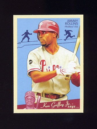 2008 Upper Deck Goudey Baseball #141 Jimmy Rollins - Philadelphia Phillies