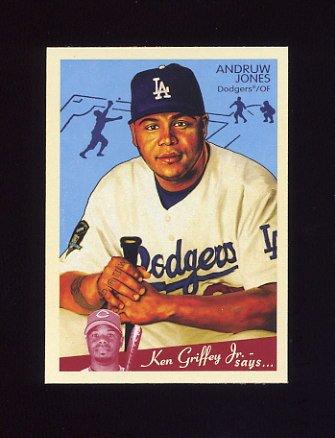 2008 Upper Deck Goudey Baseball #098 Andruw Jones - Los Angeles Dodgers