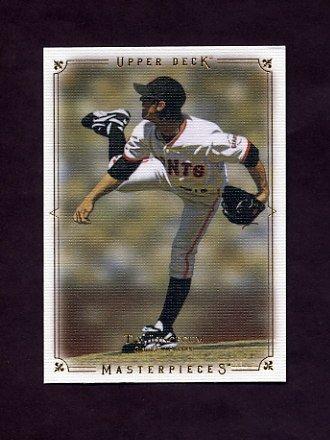 2008 UD Masterpieces Baseball #80 Tim Lincecum - San Francisco Giants