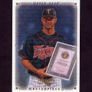 2008 UD Masterpieces Baseball #50 Joe Mauer - Minnesota Twins
