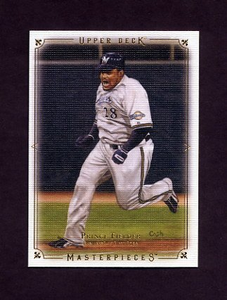 2008 UD Masterpieces Baseball #47 Prince Fielder - Milwaukee Brewers
