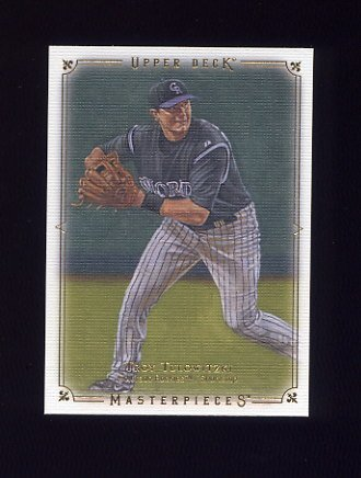 2008 UD Masterpieces Baseball #29 Troy Tulowitzki - Colorado Rockies