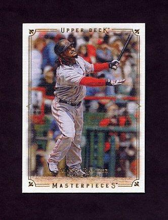 2008 UD Masterpieces Baseball #17 Manny Ramirez - Boston Red Sox