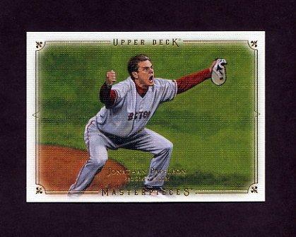 2008 UD Masterpieces Baseball #16 Jonathan Papelbon - Boston Red Sox