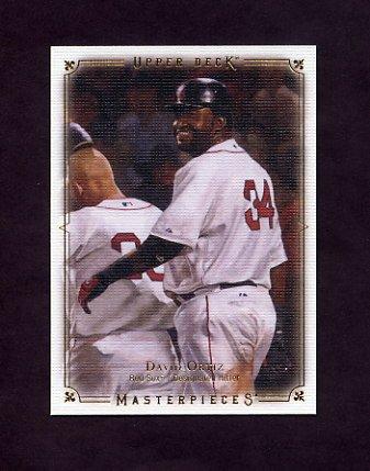 2008 UD Masterpieces Baseball #15 David Ortiz - Boston Red Sox